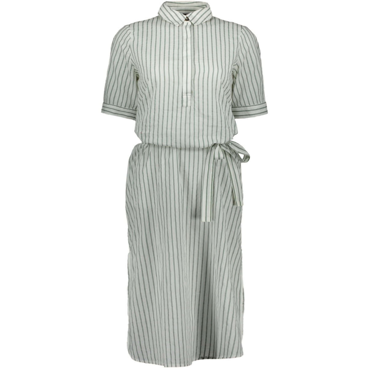 vmcassie 2/4 calf  dress wvn 10213559 vero moda jurk snow white/laurel