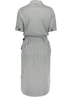 vmcassie 2/4 calf  dress wvn 10213559 vero moda jurk snow white/night sky