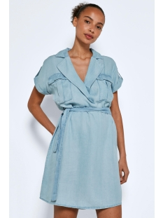 Noisy may Jurk NMVERA S/S ENDI TENCEL SHIRT DRESS 27005660 Light Blue Denim