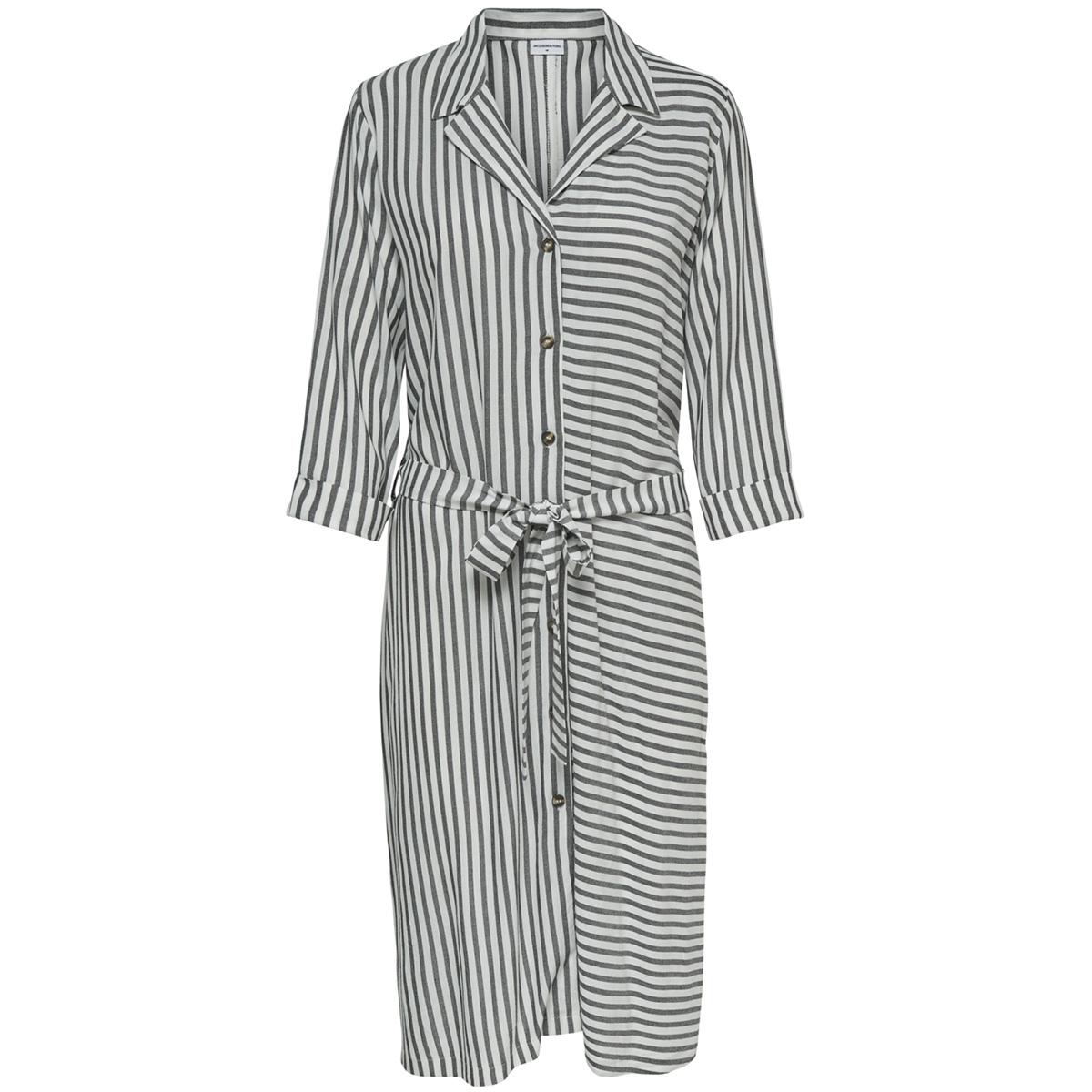 jdykarla 3/4 midi shirt dress wvn 15174415 jacqueline de yong jurk cloud dancer/black
