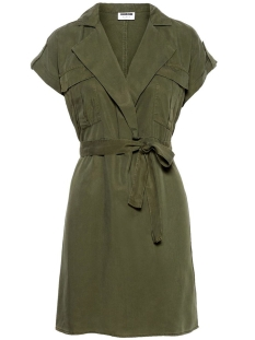 Noisy may Jurk NMVERA S/S ENDI TENCEL SHIRT DRESS 27005660 Olive Night