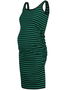 SuperMom Positie jurk BASE STRIPE S0955 CADMIUM GREEN STRIPE