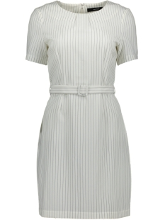 Vero Moda Jurk VMHELENA 2/4 SHORT DRESS 10210160 Snow White/NIGHT SKY