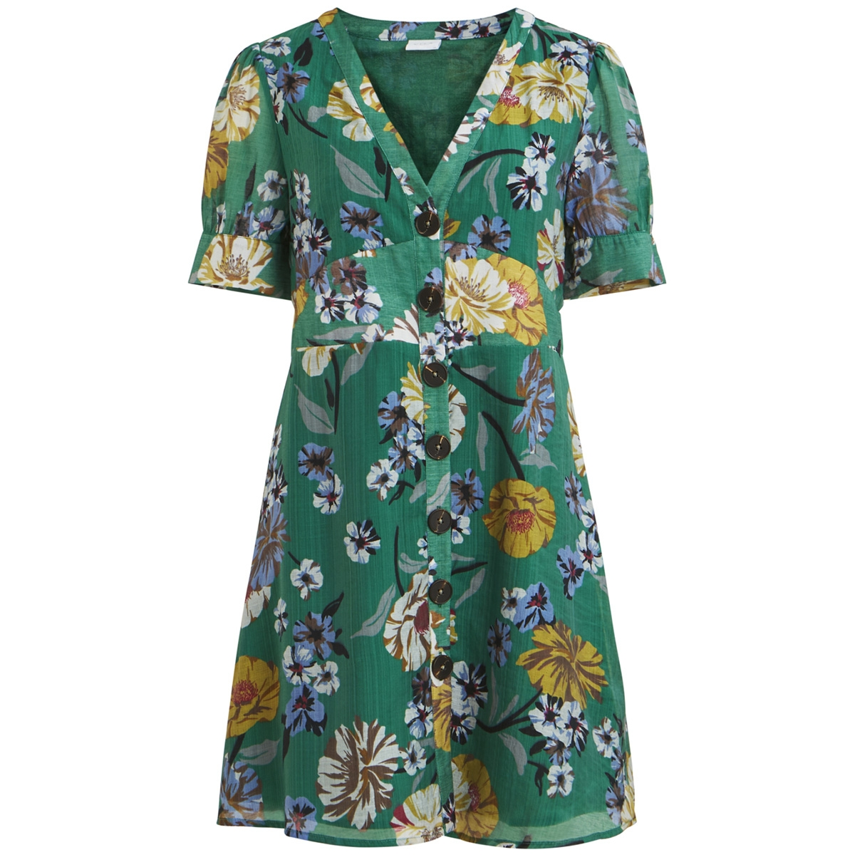 vispiro s/s dress 14053178 vila jurk fir/fir print