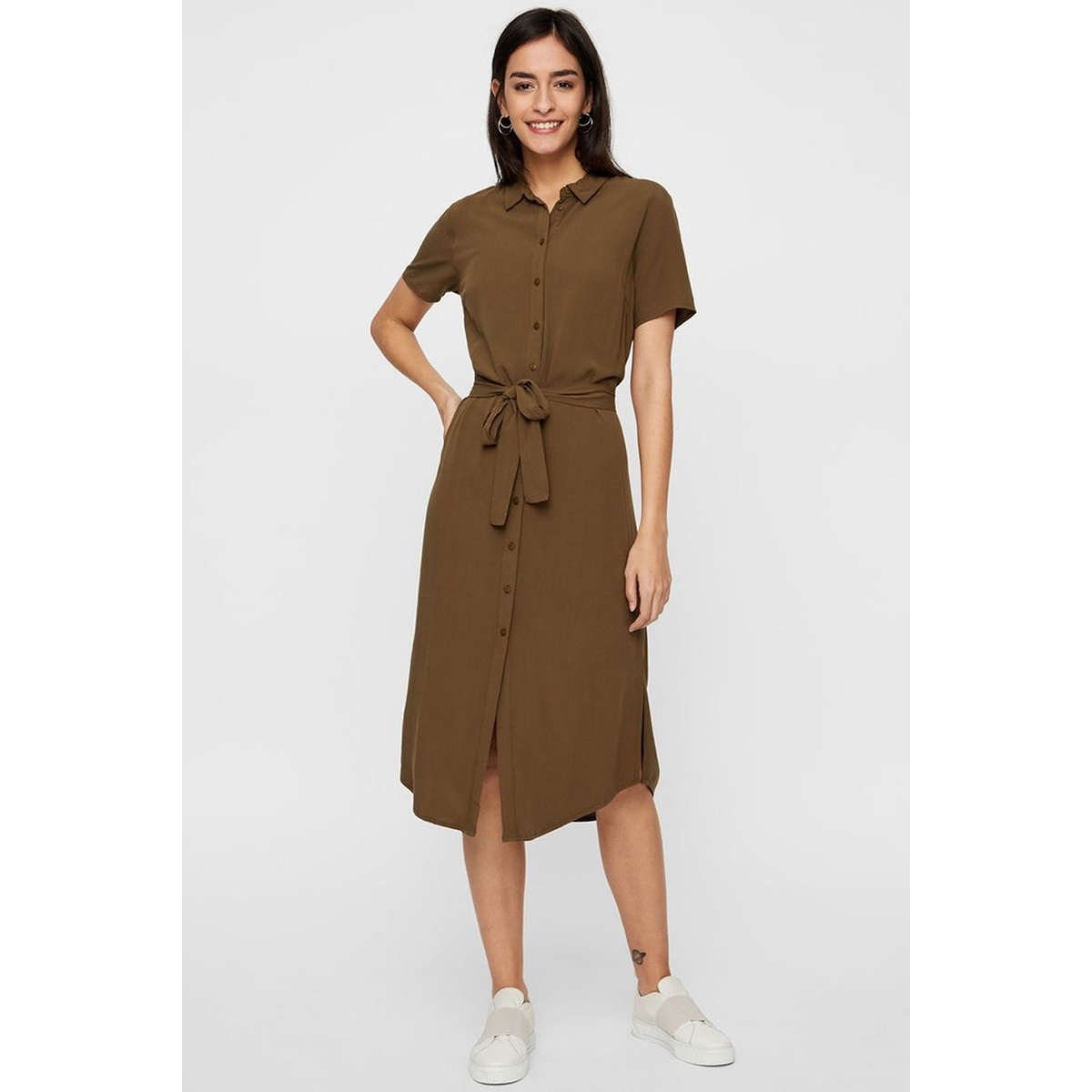 pccecilie ss long dress noos 17098767 pieces jurk beech