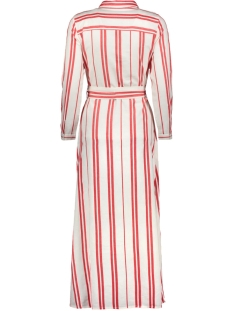 onlnadya 7/8 sleeve stripe dnm dres 15176955 only jurk cloud dancer/high risk red