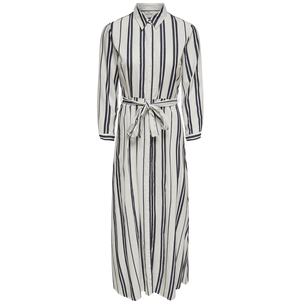 onlnadya 7/8 sleeve stripe dnm dres 15176955 only jurk cloud dancer/night sky