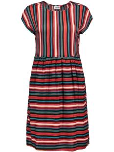 nmmelissa s/s above knee dress 2 27006197 noisy may jurk mandarin red/snow white