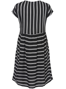 nmmelissa s/s above knee dress 2 27006197 noisy may jurk black/snow white