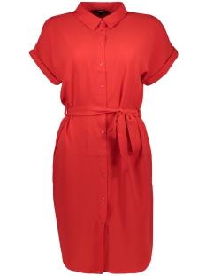 Vero Moda Jurk VMSASHA SHIRT SS DRESS COLOR 10215424 Chinese Red