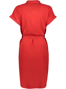 vmsasha shirt ss dress color 10215424 vero moda jurk chinese red