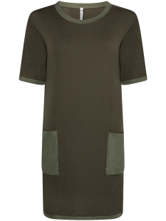 Zoso Jurk KNITTED DRESS KN1904 ARMY