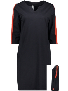 Zoso Jurk SWEAT DRESS SR1934 NAVY/ORANGE RED