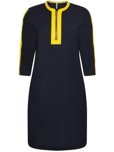 Zoso Jurk TRAVEL DRESS ZIPPER HR1934 NAVY/YELLOW