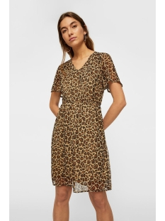 vmwonda s/s short dress pi 10217165 vero moda jurk cuban sand/leo