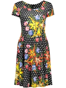 IZ NAIZ Jurk DOT FLOWER DRESS 3220 MULTI COLOR