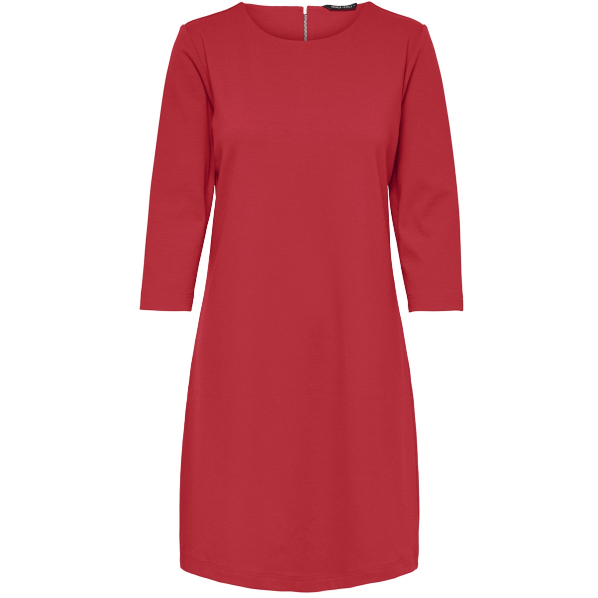 onybrendan 3/4 dress jrs 15178090 only jurk flame scarlet