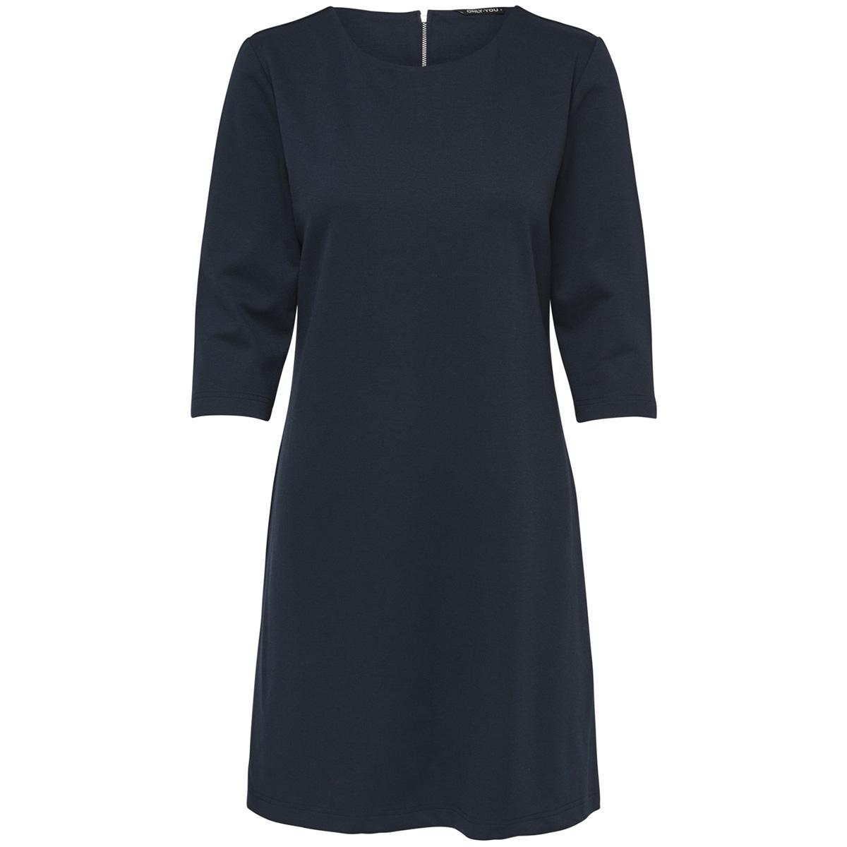 onybrendan 3/4 dress jrs 15178090 only jurk night sky