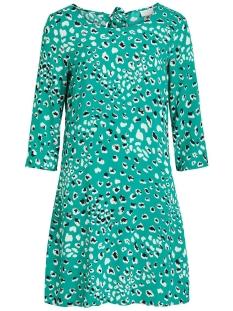 viatta pardas 3/4 dress/l 14053162 vila jurk pepper green/aop pardas