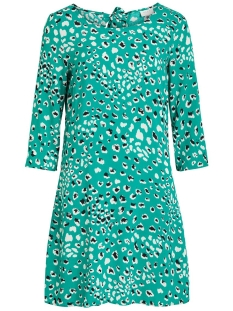 Vila Jurk VIATTA PARDAS 3/4 DRESS/L 14053162 Pepper Green/AOP PARDAS