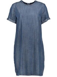 Superdry Jurk SHAY TEE DRESS G80104JT BLUE ACID WASH