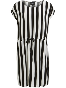 Object Jurk OBJBAY DALLAS S/S DRESS AOP  SEASON 23029254 Black/W/ WHITE STRIPES
