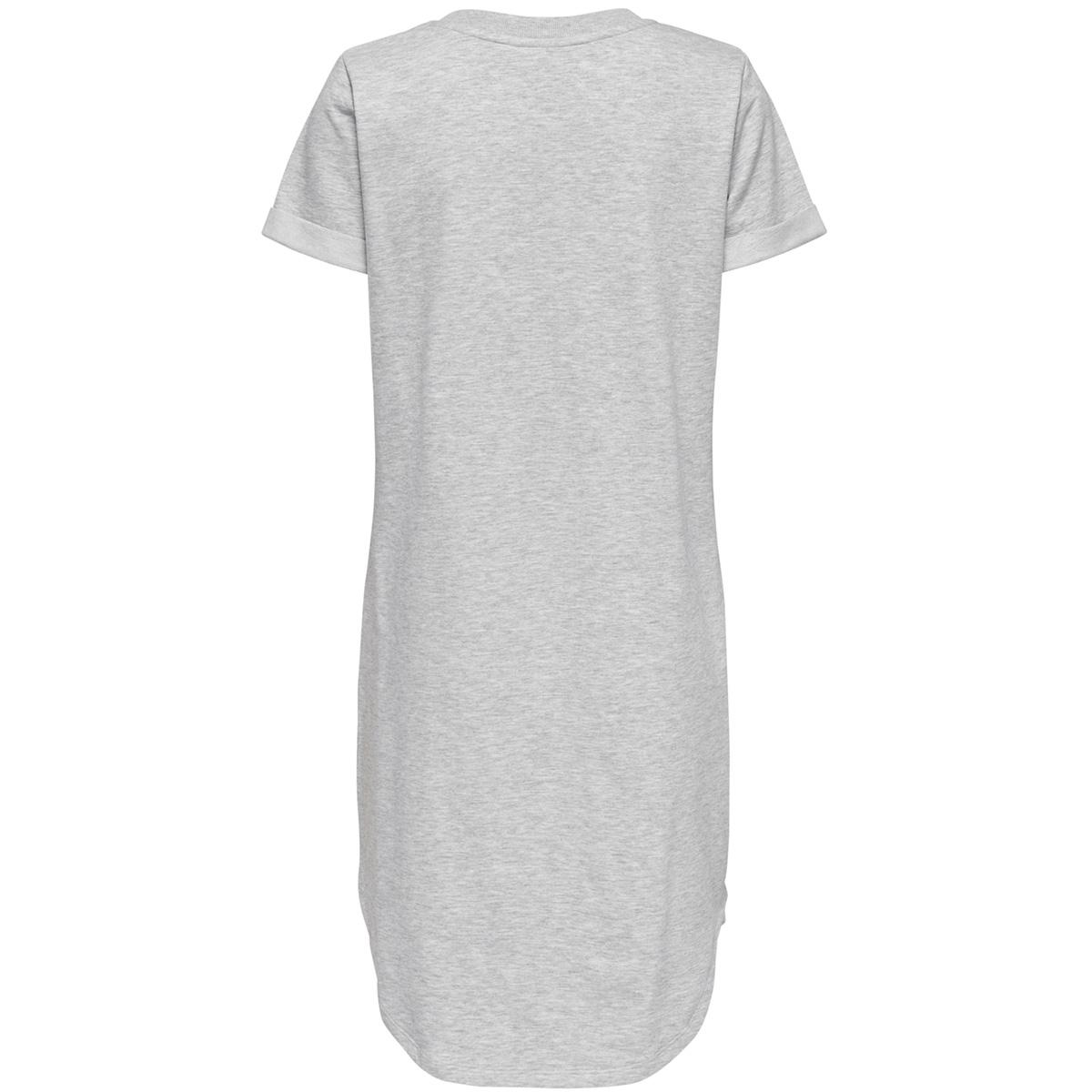 jdyivy s/s dress jrs 15174793 jacqueline de yong jurk light grey melange