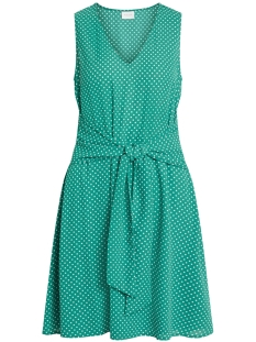 Vila Jurk VIDOTTIA S/L DRESS 14051394 Pepper Green/CLOUD DANCER