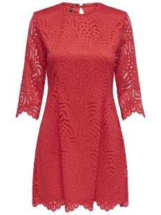 Only Jurk ONLEDITH 3 4 DRESS JRS 15173865 Flame Scarlet