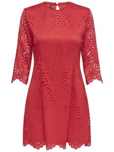 Only Jurk ONLEDITH 3 4 DRESS JRS 15173865 Flame Scarlet