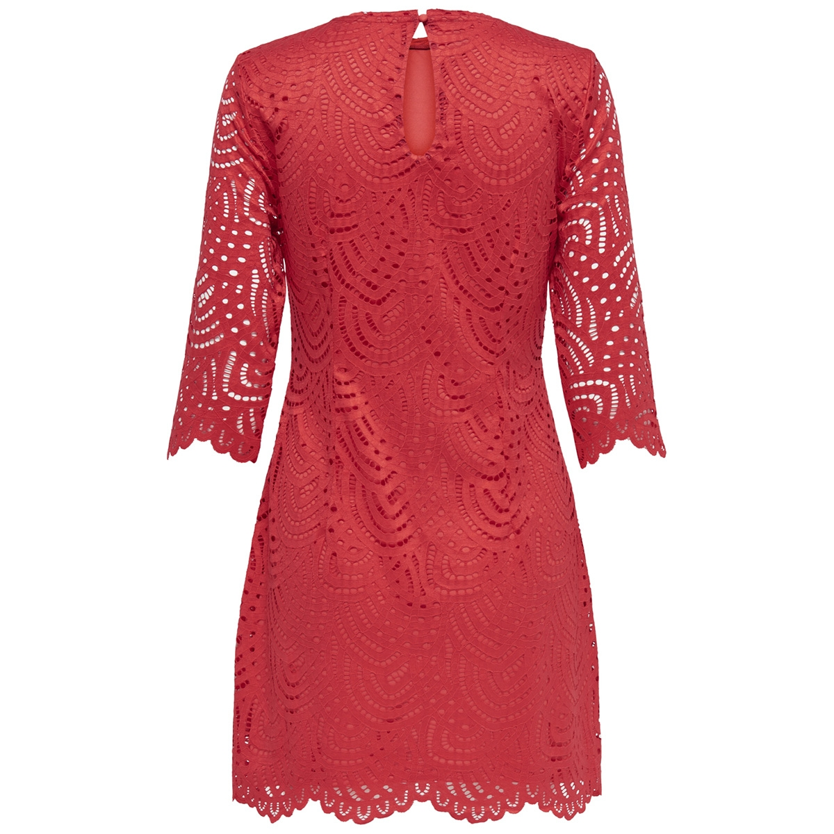 onledith 3 4 dress jrs 15173865 only jurk flame scarlet