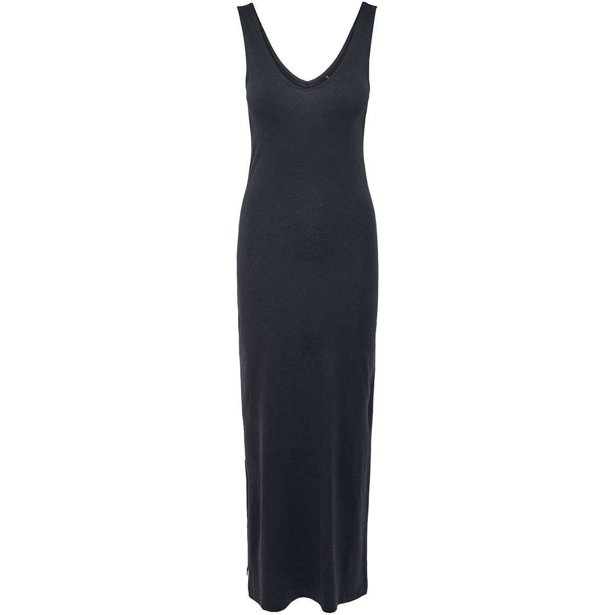 onljuly s/l long v-neck dress noos 15176104 only jurk night sky