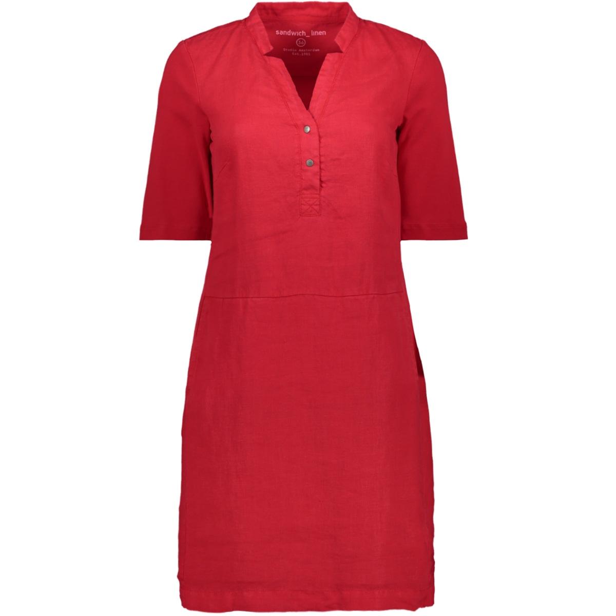 linnen jurk met v hals 23001536 sandwich jurk 20142