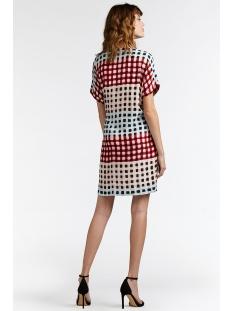 jurk met kleurrijk ruit patroon 23001544 sandwich jurk 20145