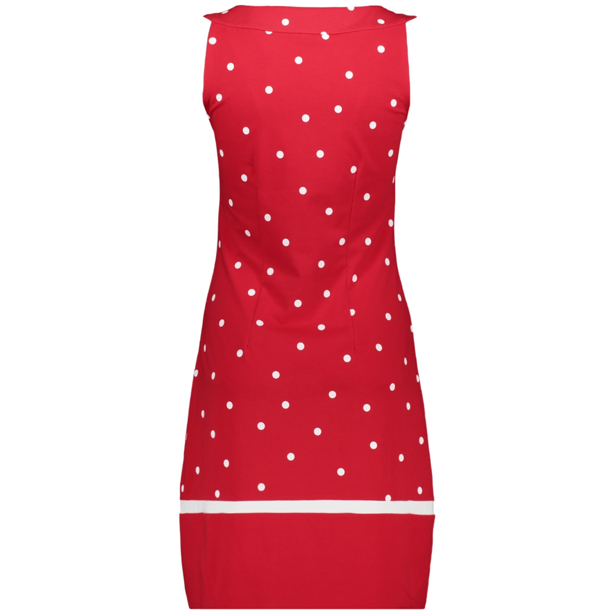 klokkende jurk met dot print 23001561 sandwich jurk 20142