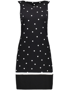 klokkende jurk met dot print 23001561 sandwich jurk 80041