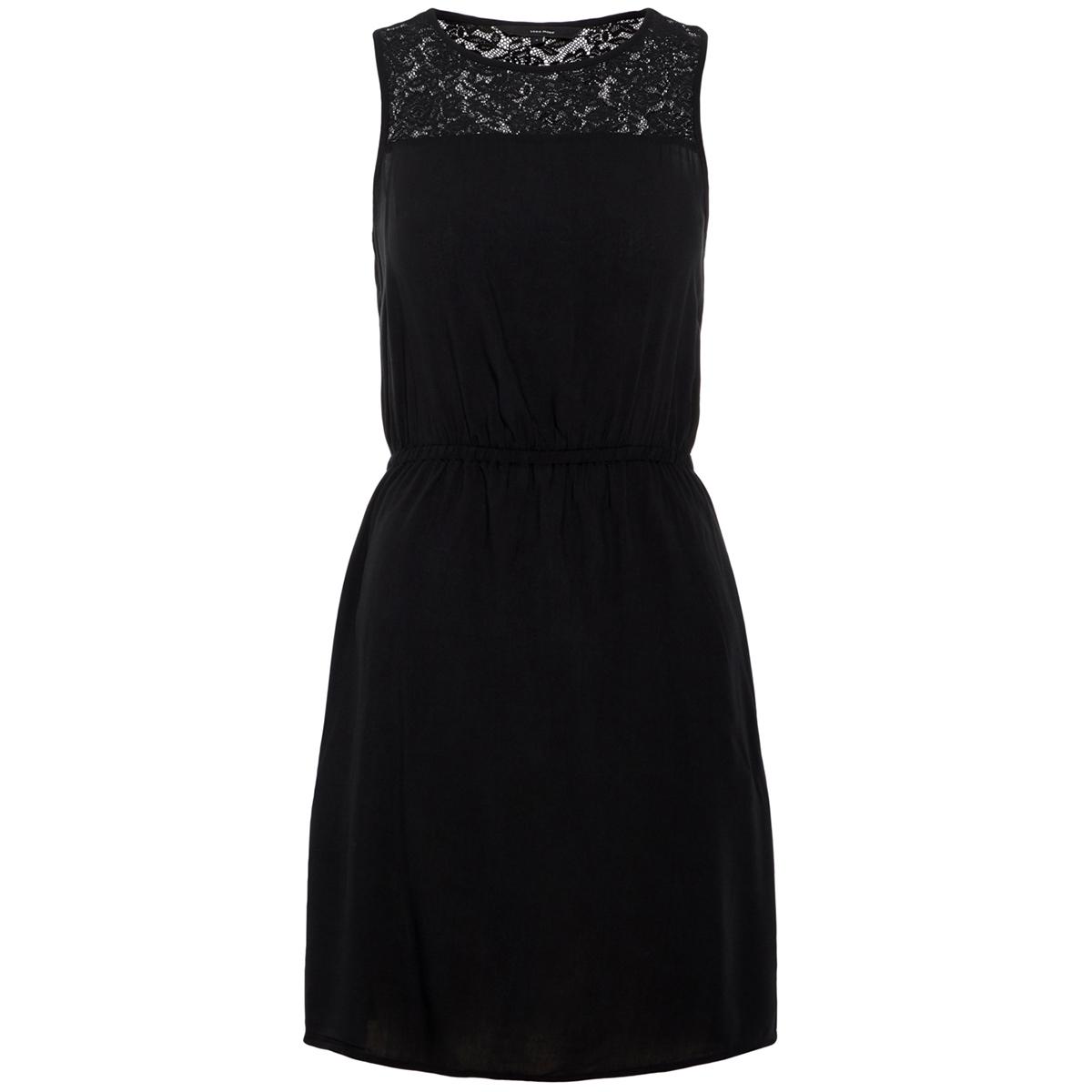 vmboca s l lace short dress 10211583 vero moda jurk black