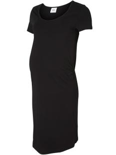 Mama-Licious Positie jurk MLLEA ORG S S DRESS A O 20006326 Black