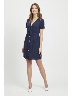 vimani s/s dress 14053188 vila jurk navy blazer