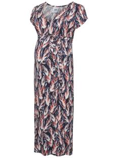 Mama-Licious Positie jurk MLRHEA S/S JERSEY MIDI DRESS A. O. 20009831 Black/SNOW WHITE