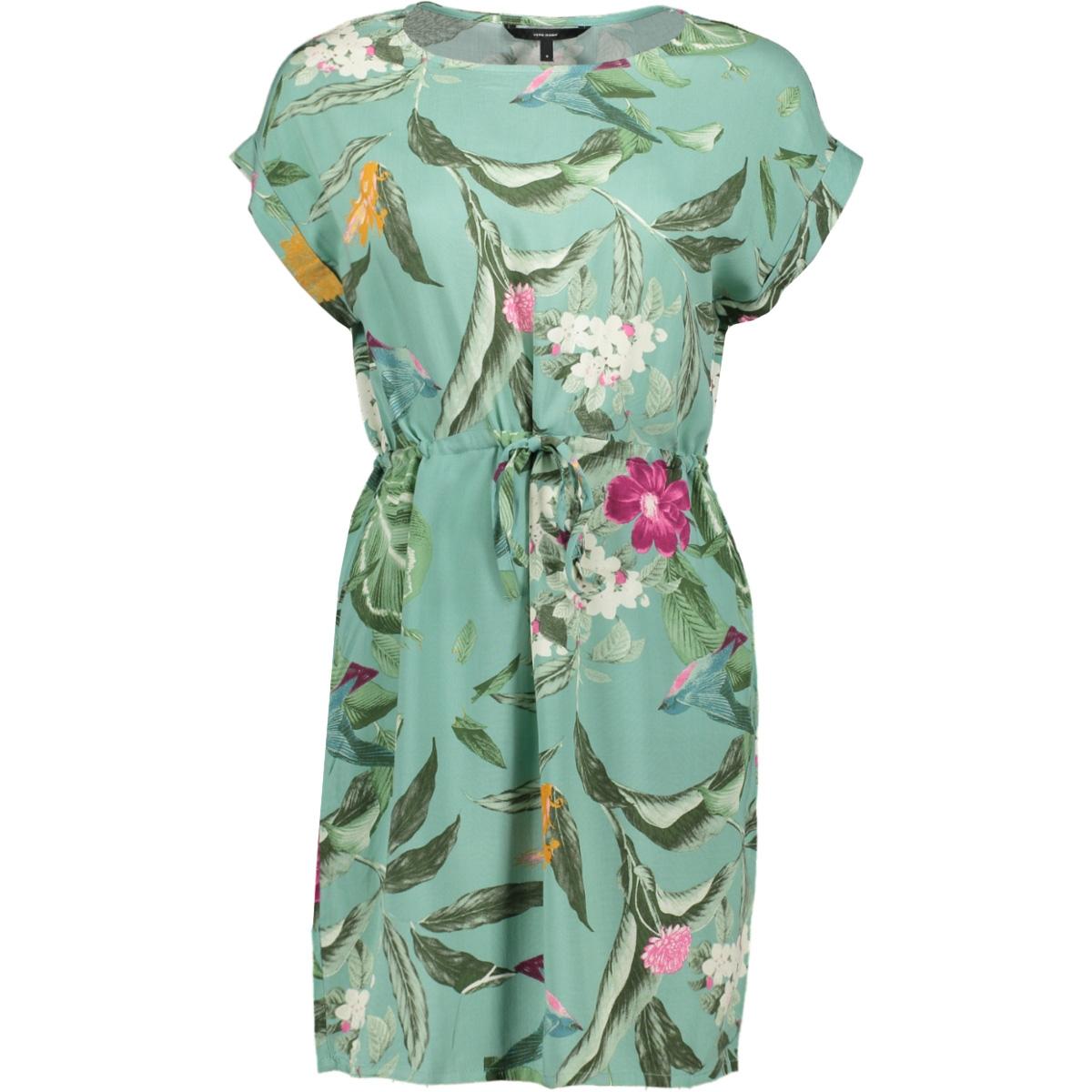 vmsimply easy ss short dress 10211514 vero moda jurk wasabi/tropicana