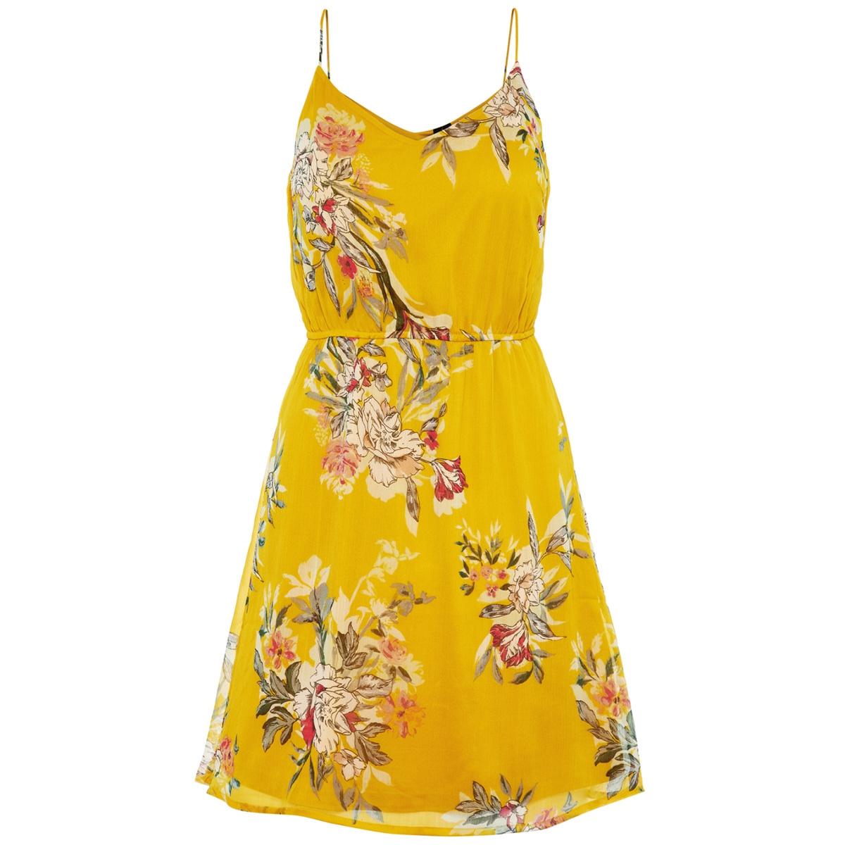 vmwonda singlet short dress exp 10166410 vero moda jurk lemon curry/lea
