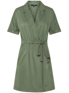 Vero Moda Jurk VMHARPER SS SHORT WRAP DRESS 10214418 Laurel Wreath