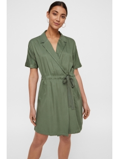 vmharper ss short wrap dress 10214418 vero moda jurk laurel wreath