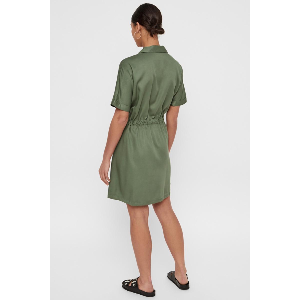 vmharper ss short wrap dress 10214418 vero moda jurk laurel wreath