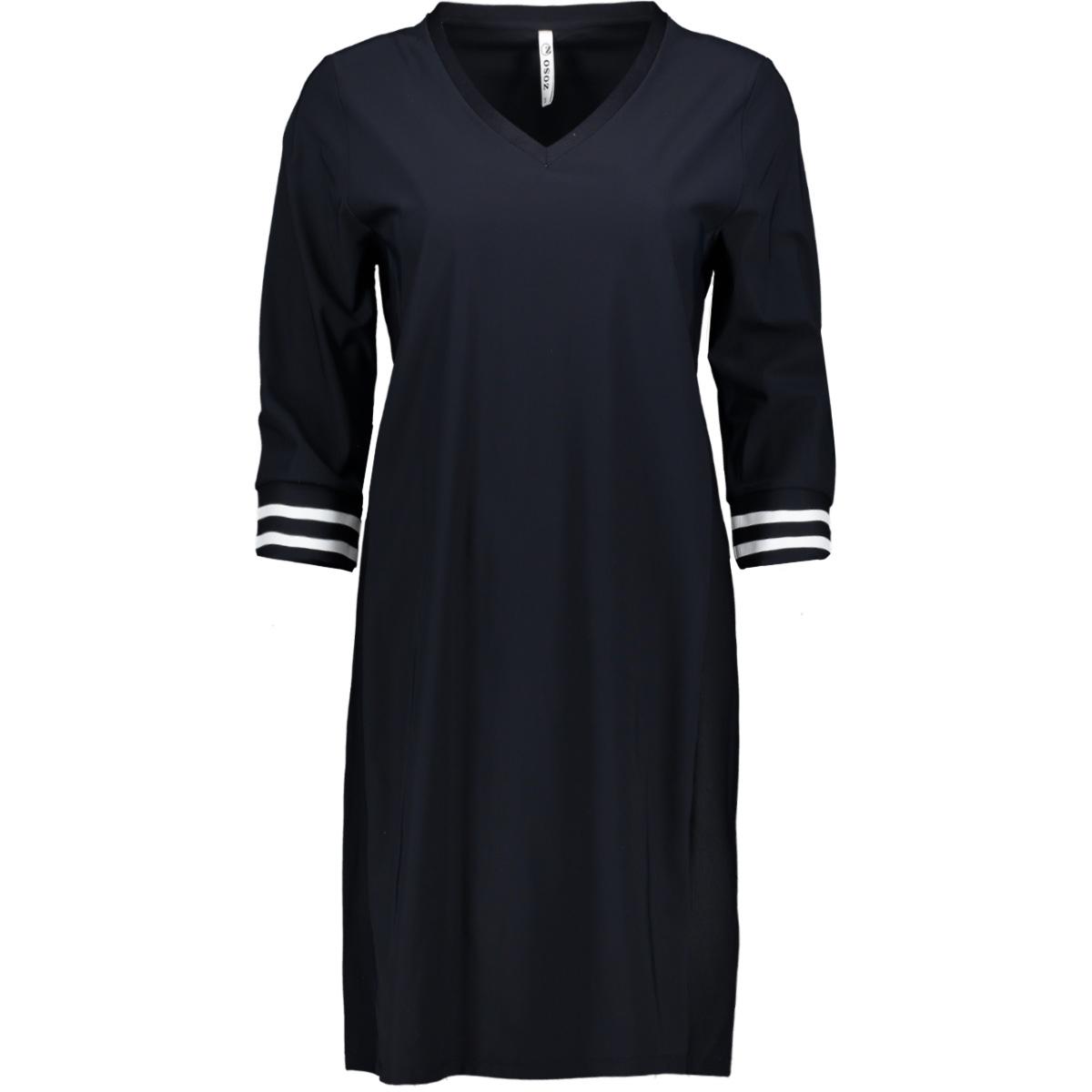 belle travel tunic with rib 192 zoso jurk navy