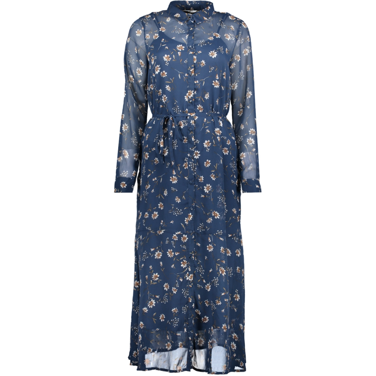 Bloemen Maxi Jurk.Onlsheena Maxi Dress Wvn 15176515 Only Jurk Insignia Blue Flower
