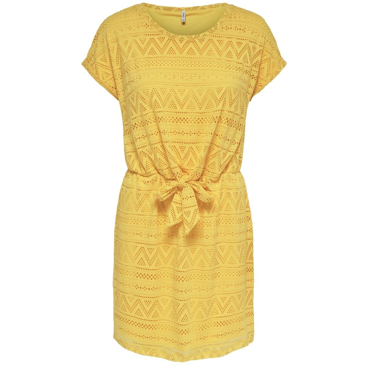 onljolly s/s knot dress jrs 15177755 only jurk solar power