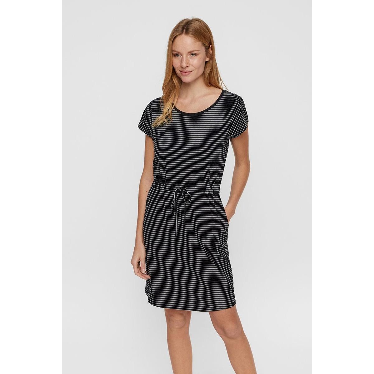 vmapril ss short dress ga noos 10198244 vero moda jurk black/snow