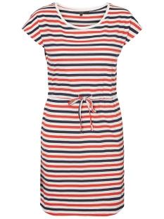 vmapril ss short dress ga noos 10198244 vero moda jurk snow white/multi